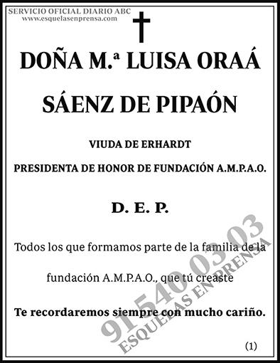 M.ª Luisa Oraá Sáenz de Pipaón